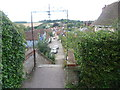 TM0043 : View from the entrance to St Mary's Churchyard, Kersey by Marathon