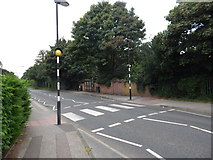 TM1543 : Crossing at Heatherhayes junction, Belstead Road by Hamish Griffin