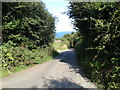SX1090 : Steep lane down into Boscastle by Rob Purvis