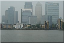 TQ3880 : View of Canary Wharf from the Greenwich Peninsula by Robert Lamb