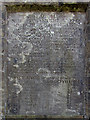 NY5791 : Inscription, Old Toll Pillar, Bloody Bush by Andrew Curtis