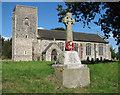TG2425 : All Saints church and war memorial, Skeyton by Evelyn Simak