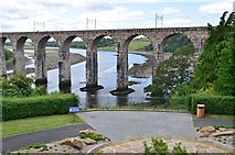 NT9953 : Viewpoint and Royal Border Bridge, Berwick-upon-Tweed by Jim Barton