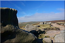 SK1087 : Gritstone rock formations by Peter Barr