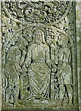 SD3097 : Detail on the Celtic-style cross marking John Ruskin's grave by pam fray