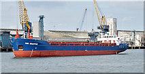 """J3576 : The """"Hav Snapper"""" arriving at Belfast harbour (September 2014) by Albert Bridge"""