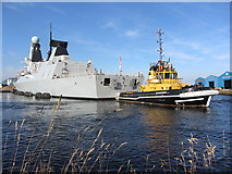 ST1974 : NATO warships in Cardiff Bay: HMS Duncan by Gareth James