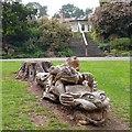 ST3087 : A tree sculpture, Belle Vue Park, Newport by Robin Drayton