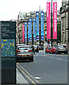 NS5965 : Banners on George Square by Thomas Nugent