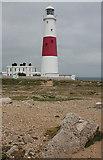 SY6768 : Portland Bill Lighthouse by Anne Burgess
