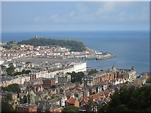 TA0487 : Castle,  Harbour  and  South  Bay  from  Oliver's  Mount by Martin Dawes
