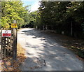 SJ8479 : Vehicles will be apprehended on a private road in  Harden Park, Alderley Edge by Jaggery