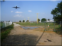 TQ0975 : Runway approach lights for Heathrow by Marathon