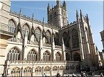 ST7564 : Bath Abbey from the Roman Baths by Robin Sones