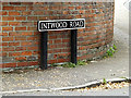 TG1905 : Intwood Road sign by Adrian Cable