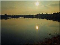 SK3899 : Setting sun over Elsecar Reservoir by Steve  Fareham