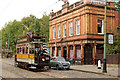 SK3454 : Newcastle 114 passing the Red Lion by Alan Murray-Rust