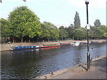 SE5952 : Barges on the Ouse, York by Robin Sones