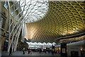 TQ3083 : Yellow lighting, King's Cross Station by N Chadwick