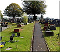 SS9091 : Cemetery path in Pontycymer by Jaggery