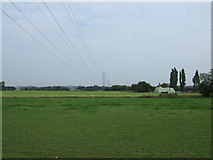 SJ4887 : Farmland and powerlines by JThomas