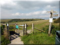 TQ5701 : Stile at footpath junction at Butts Brow by PAUL FARMER