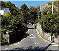 SS6087 : Start of a long steep climb away from Langland Bay, Swansea by Jaggery