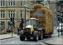 SK0573 : Heavy load in Buxton, Derbyshire by Roger  Kidd
