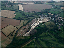 SK4023 : Breedon on the Hill from the air by Thomas Nugent