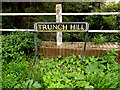 TM2887 : Trunch Hill sign by Adrian Cable