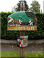 TM2887 : Denton Village sign by Adrian Cable