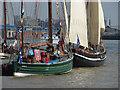 TQ3878 : Sailing vessels at rest by Alan Hunt