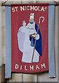 TG3225 : St Nicholas, Dilham - Banner by John Salmon