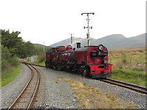 SH5752 : WHR loco at Rhyd Ddu station by Gareth James