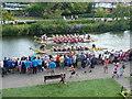 TQ5846 : The final of the Dragon Boat Race, Tonbridge by Marathon
