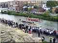 TQ5946 : The final of the Dragon Boat Race, Tonbridge by Marathon