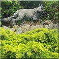 NO1223 : Fox Sculpture in Rodney Gardens Perth by Karl Prakel