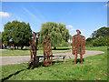 TQ5492 : Iron Sculptures in Central Park by Des Blenkinsopp