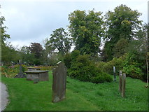 SD9772 : St. Mary, Kettlewell: churchyard by Basher Eyre