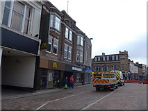 SK5319 : Looking towards McDonald's in Market Place by Basher Eyre