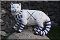NN7098 : A wildcat model at Newtonmore Shinty Ground by Walter Baxter