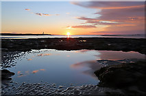 NJ2270 : A Lossiemouth sunset by Walter Baxter