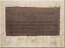 SJ7996 : Marshall Stevens Memorial Plaque by David Dixon