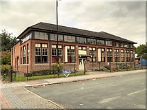SJ7996 : St Antony's Centre, Trafford Park Village by David Dixon