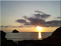 SX0486 : Evening at Trebarwith Strand by Rob Purvis