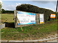 TL7965 : Risby Business Park signs by Adrian Cable