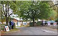 NT2539 : Polling station entrance, Priorsford School Peebles by Jim Barton