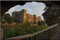 SK7954 : Newark Castle from under the bridge by Paul Harrop