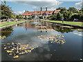 TQ0658 : Ornamental Lake, Royal Horticultural Society Garden, Wisley, Surrey by Christine Matthews