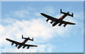 NS3626 : A 2-ship Lancaster fly past at Glasgow Prestwick Airport by Walter Baxter